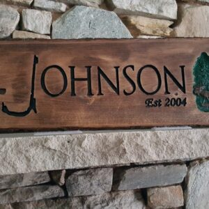 Wildlife Custom Rustic Carved Sign