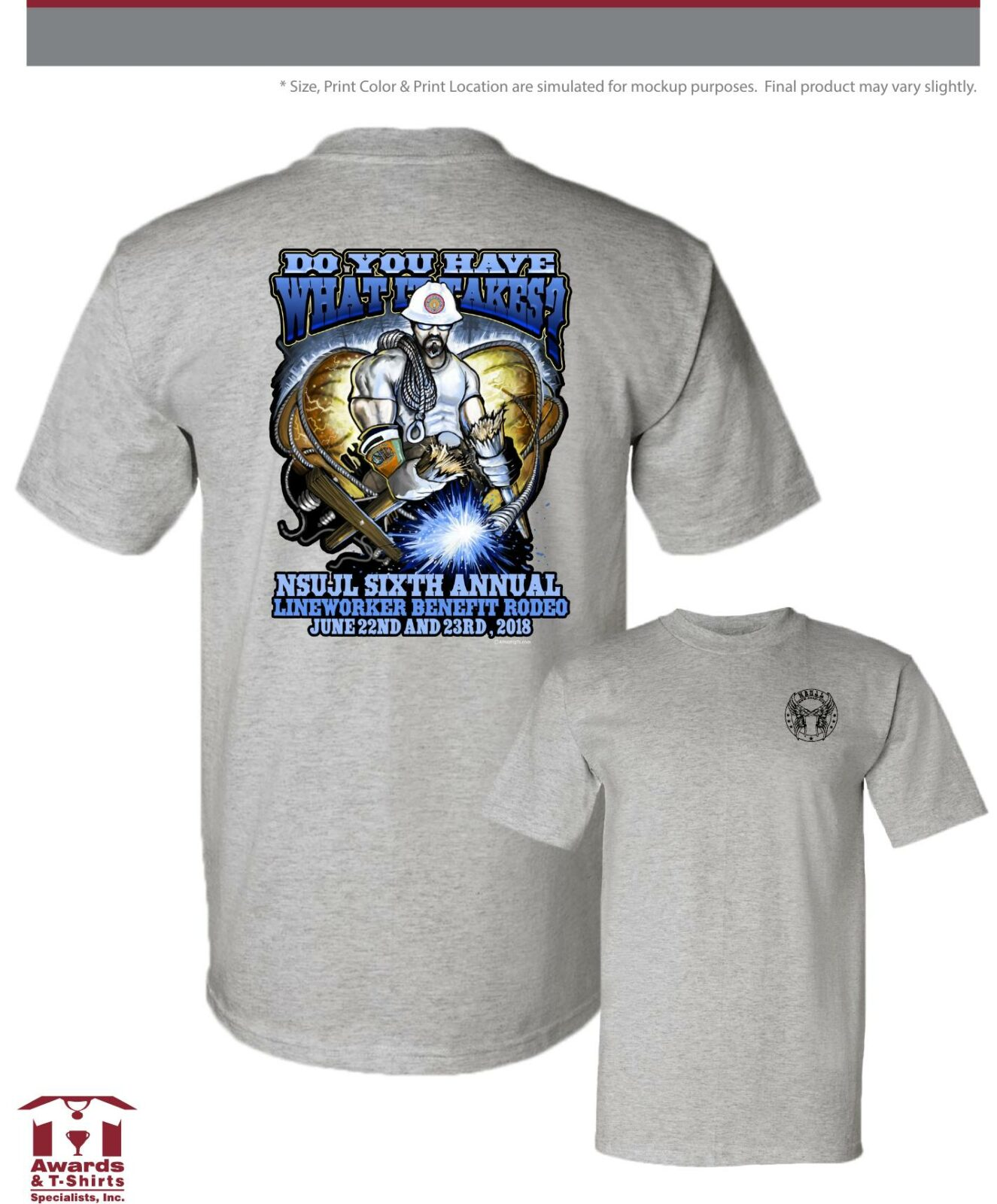 6a3cab7fe 2018 Lineman Rodeo Do you have what it takes t-shirt