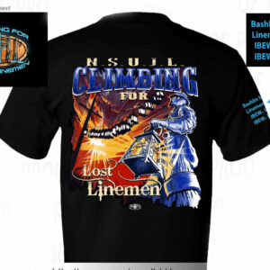 Climbing for Lost Linemen T-shirt