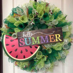 Bright Summer Watermelon Wreath