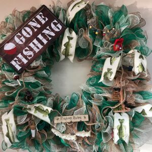 NSUJL Gone Fishing Wreath