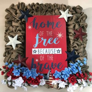 NSUJL Home of the Free Burlap Wreath