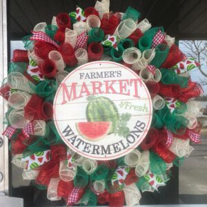 Summer Country Watermelon Wreath