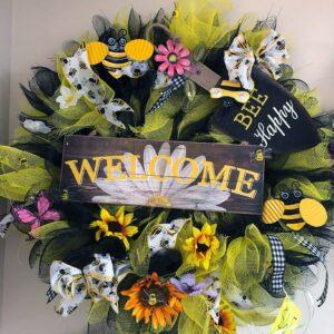 NSUJL Summer Bumble Bee Wreath