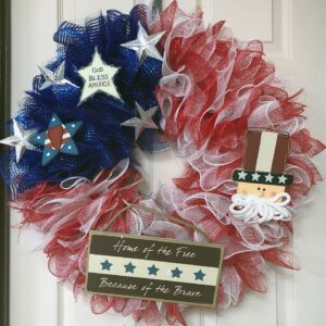 Red, White and Blue Flag Wreath