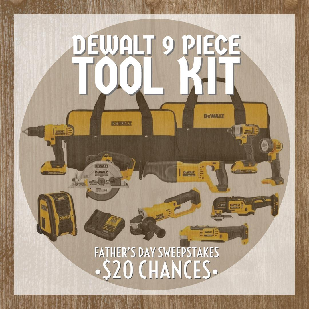 NSUJL Father's Day DeWalt 9 Piece Tool Kit Sweepstakes