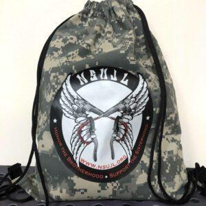 NSUJL Camo Drawstring Bag
