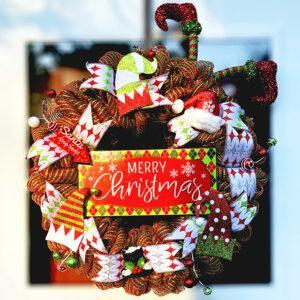 Holiday Hats Christmas Wreath