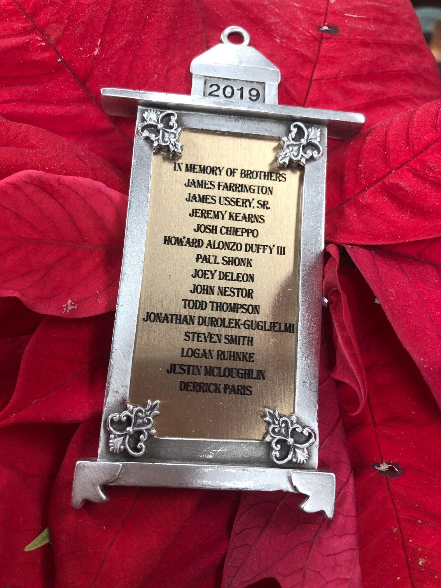 2019 Commemorative Fallen Linemen Ornament
