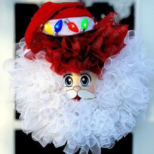 Santa Blinking Light Wreath