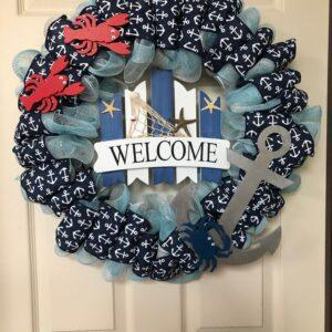 anchors away wreath