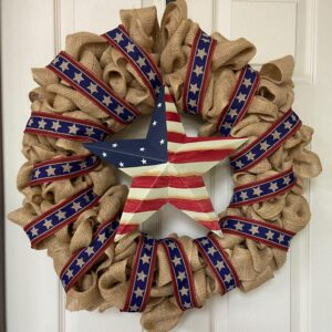 Rustic Patriotic Star Wreath