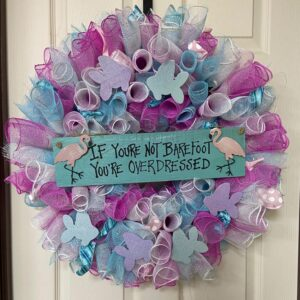 Bright Better when Barefoot Wreath